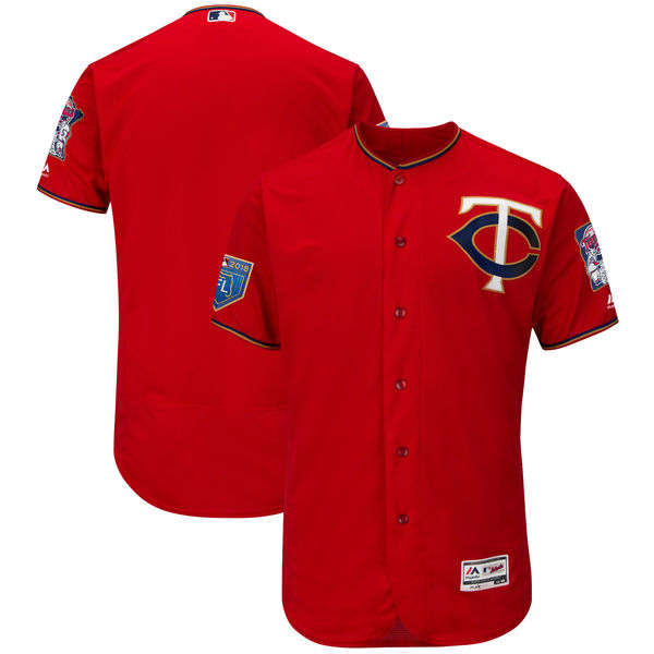 Twins Blank Red 2018 Spring Training Flexbase Jersey