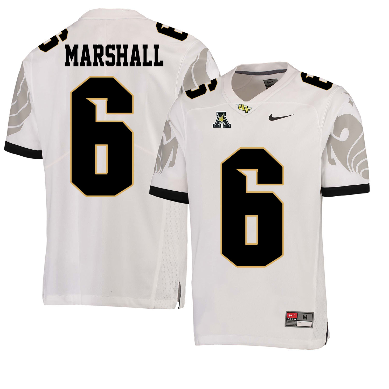 UCF Knights 6 Brandon Marshall White College Football Jersey