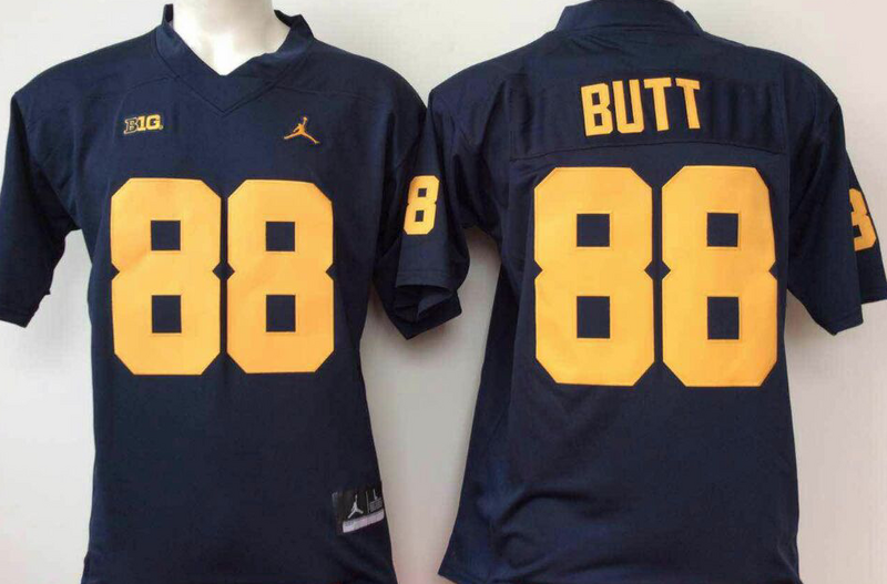 Michigan Wolverines 88 Jake Butt Navy College Football Jersey