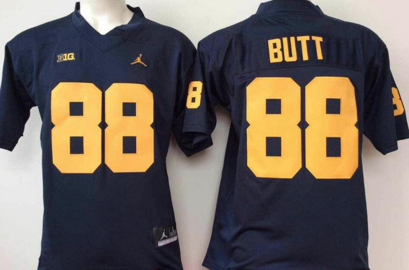 Michigan Wolverines 88 Jake Butt Navy College Football Jersey