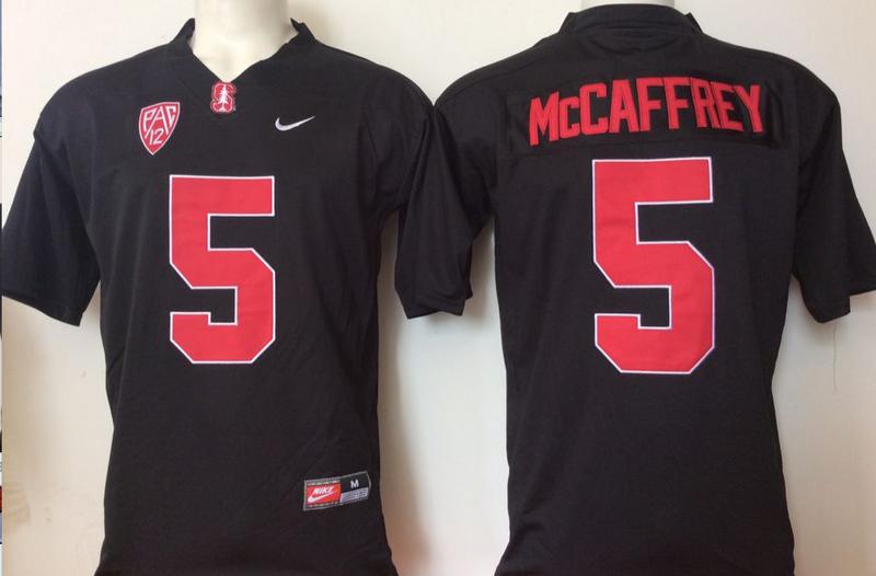 Stanford Cardinal 5 Christian McCaffrey Black College Football Jersey