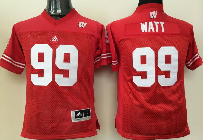 Ohio State Buckeyes 99 JJ Watt Red Women College Football Jersey