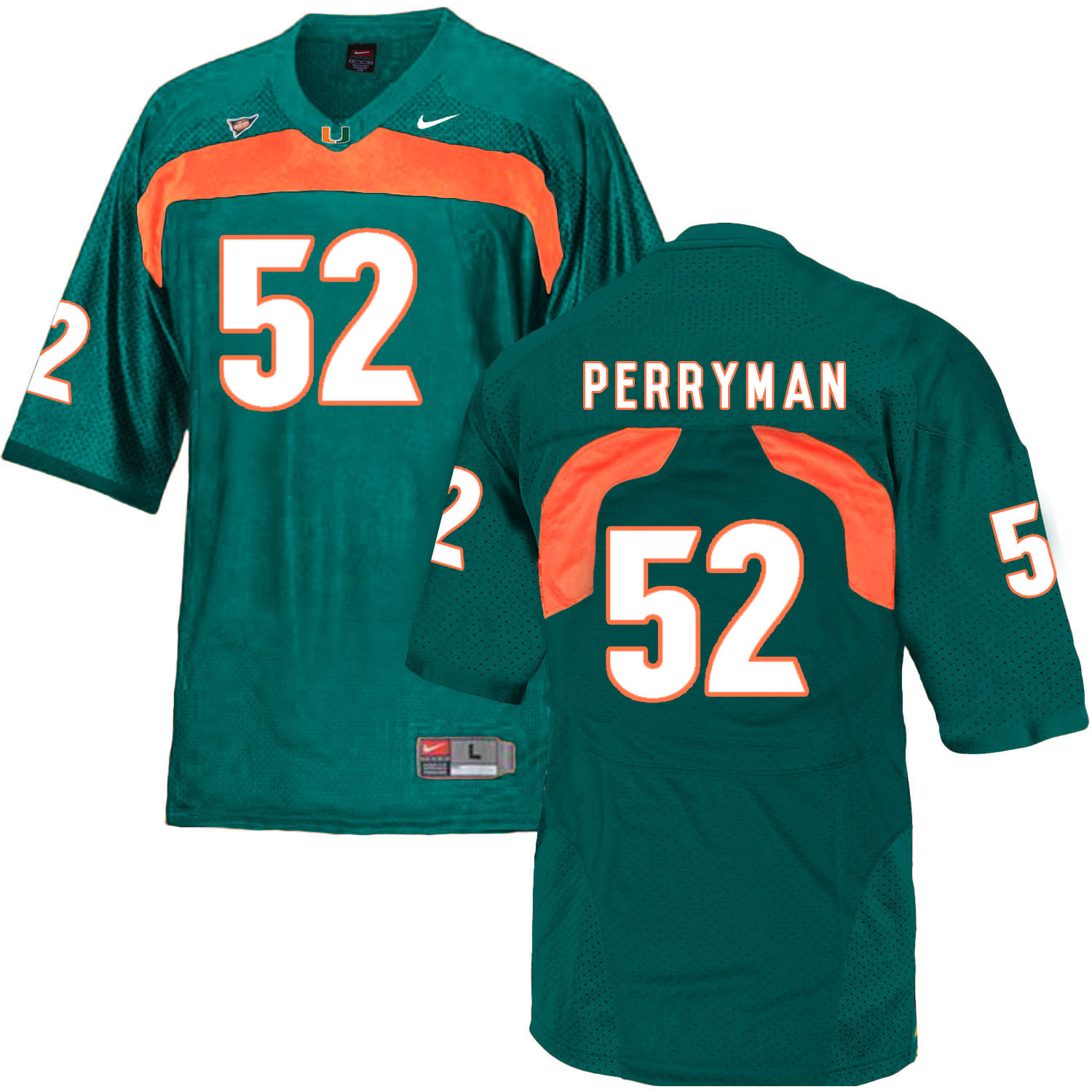 Miami Hurricanes 52 Denzel Perryman Green College Football Jersey