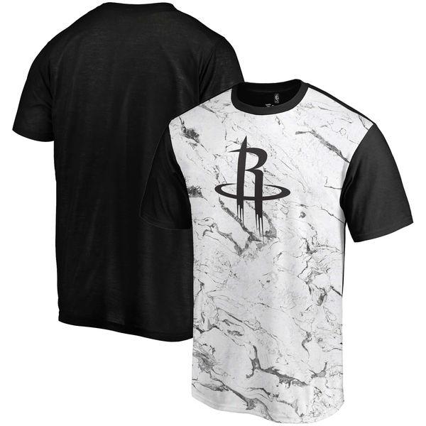 Houston Rockets Marble Sublimated T Shirt White Black