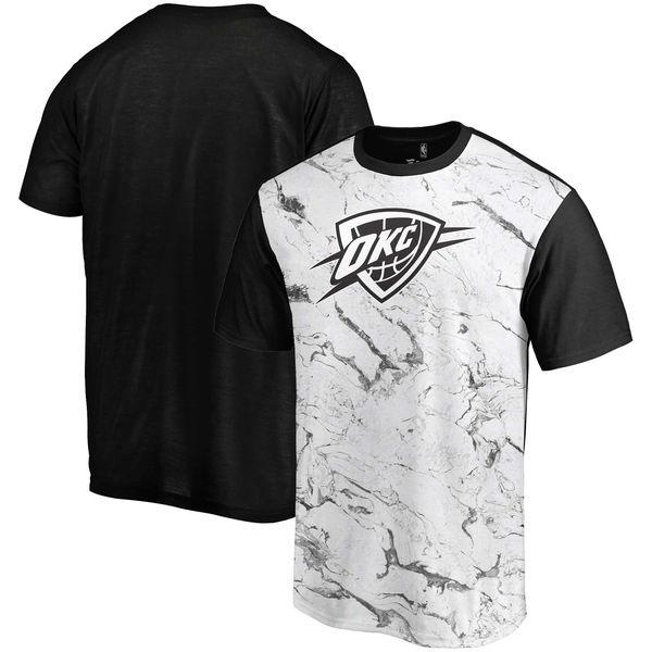 Oklahoma City Thunder Marble Sublimated T Shirt White Black