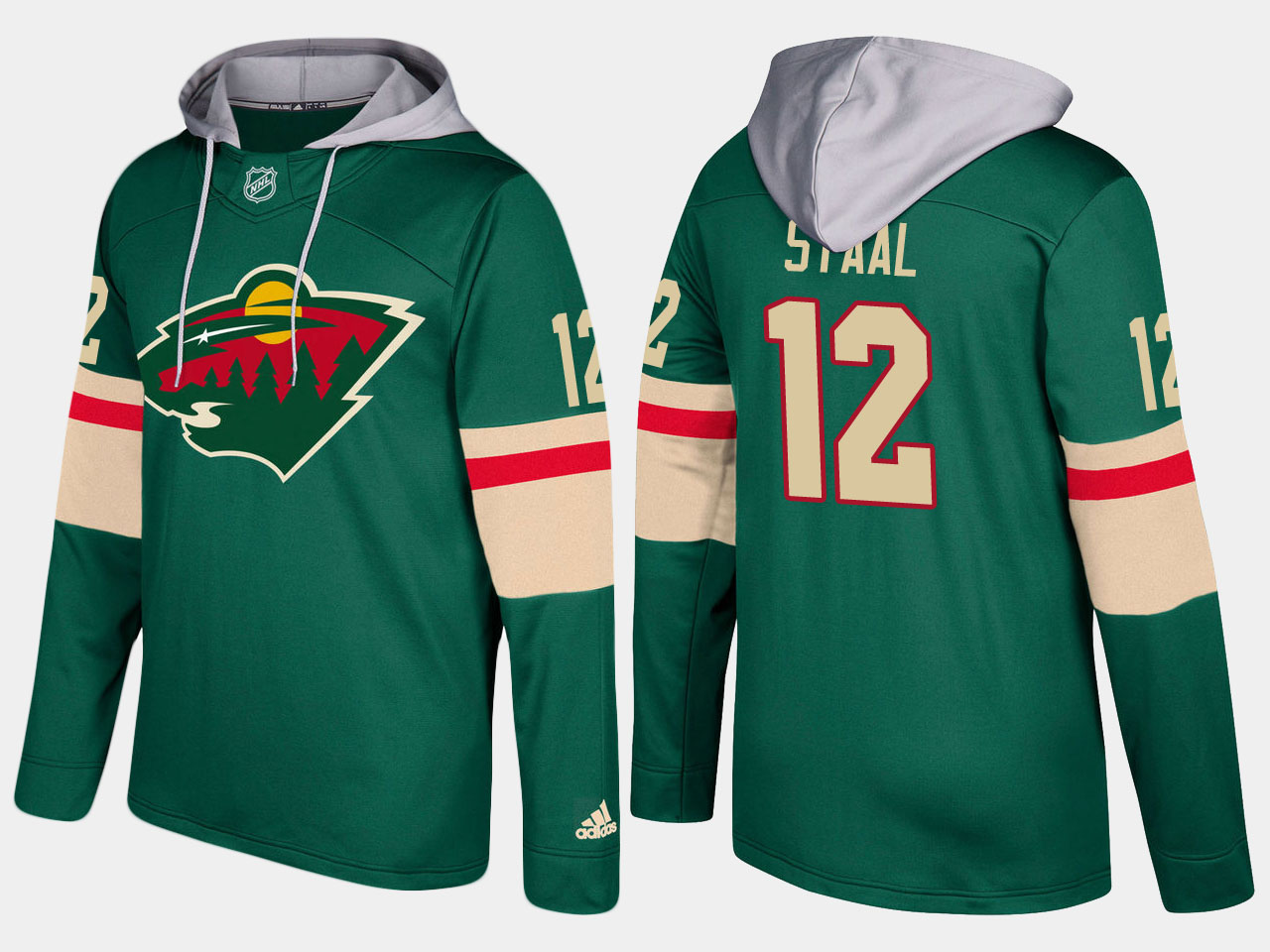 Nike Wild 12 Eric Staal Name And Number Green Hoodie