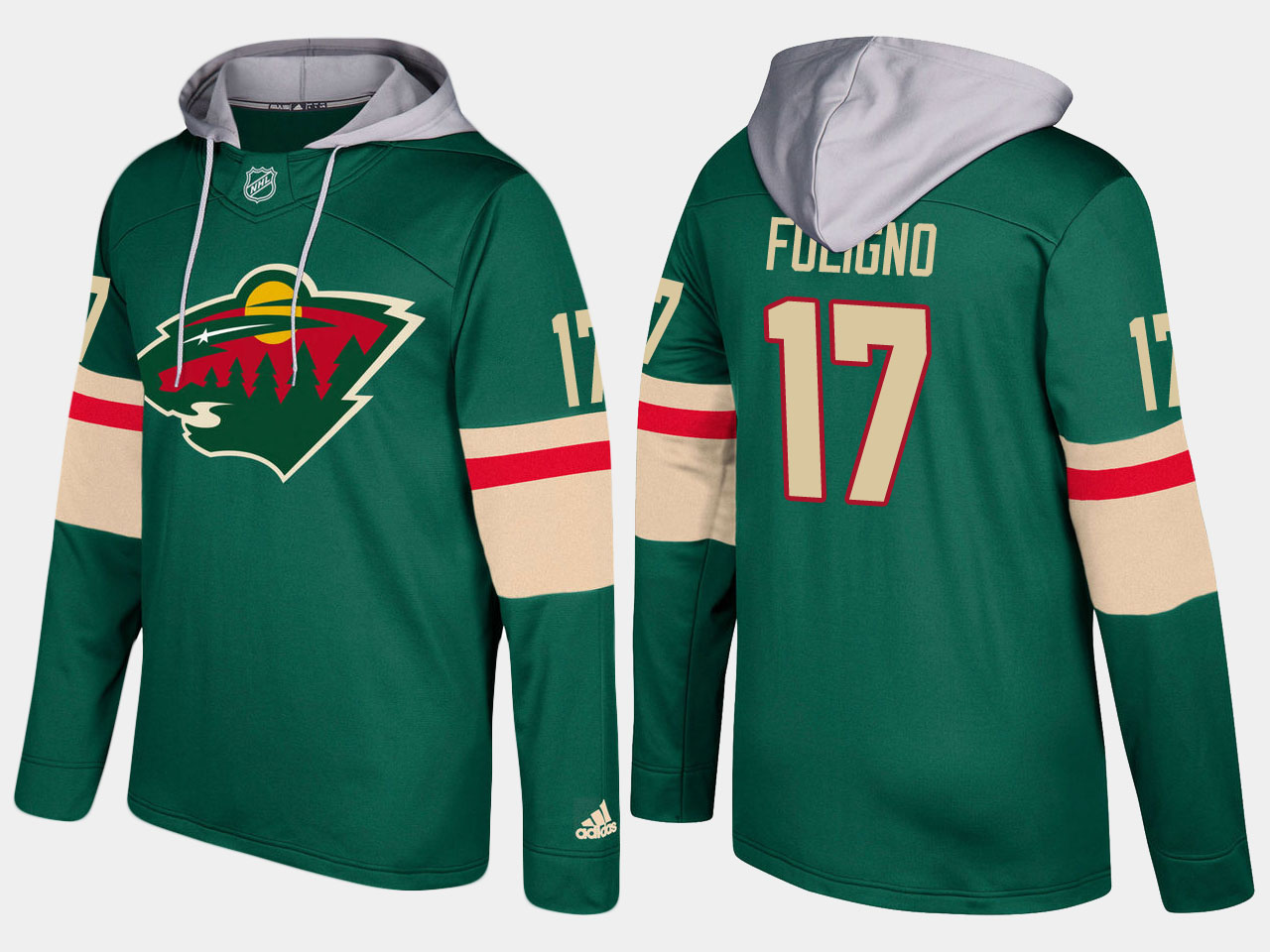 Nike Wild 17 Marcus Foligno Name And Number Green Hoodie