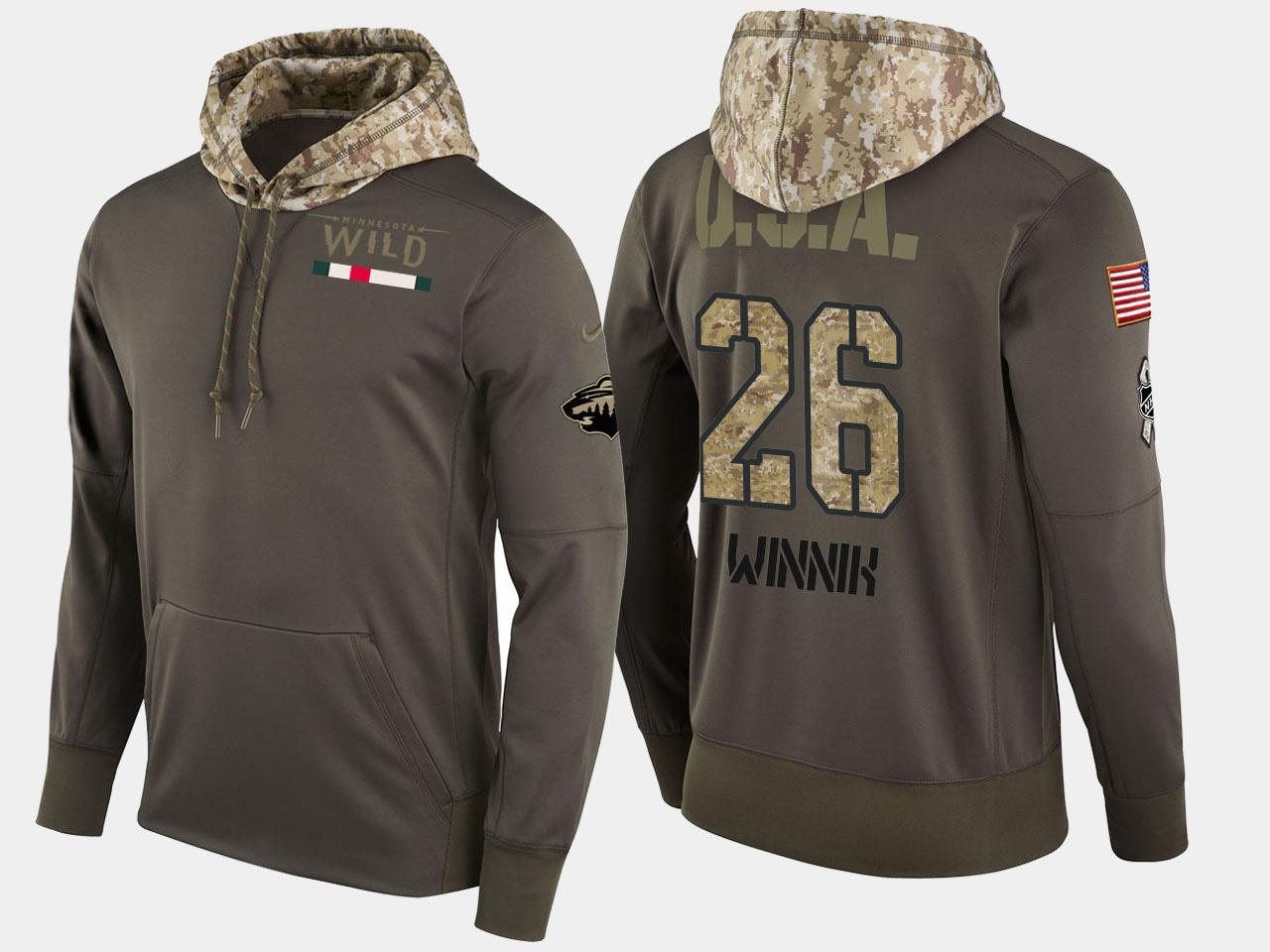Nike Wild 26 Daniel Winnik Olive Salute To Service Pullover Hoodie
