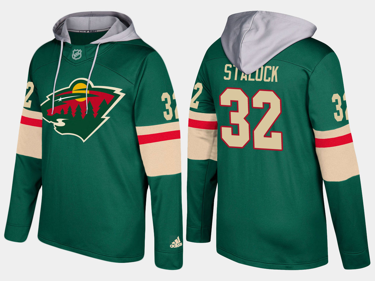 Nike Wild 32 Alex Stalock Name And Number Green Hoodie