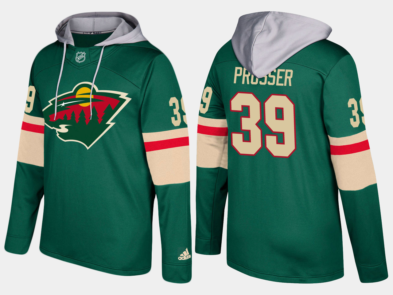 Nike Wild 39 Nate Prosser Name And Number Green Hoodie