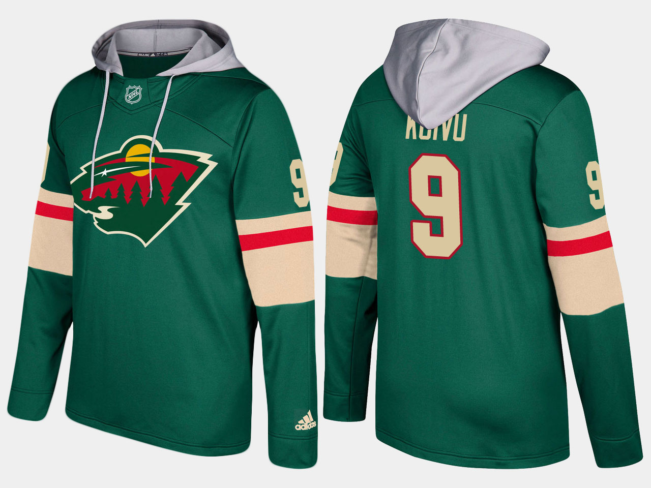 Nike Wild 9 Mikko Koivu Name And Number Green Hoodie