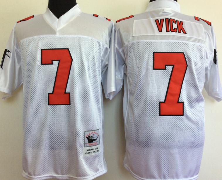 Nike Falcons 7 Michael Vick Mitchell & Ness Jersey