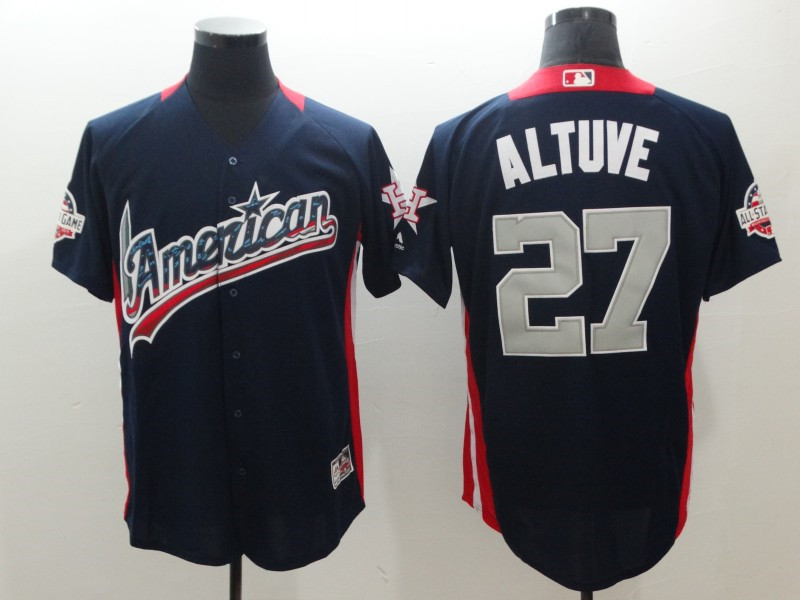 American League 27 Jose Altuve Navy 2018 MLB All-Star Game Home Run Derby Jersey