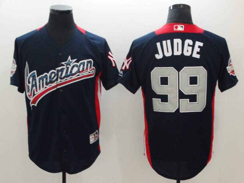 American League 99 Aaron Judge Navy 2018 MLB All-Star Game Home Run Derby Jersey