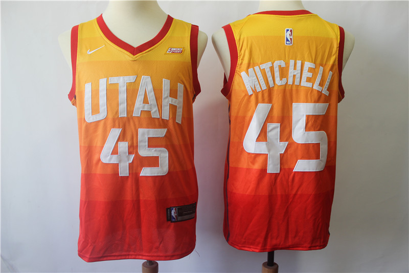 Jazz 45 Donovan Mitchell Multi Color City Edition Nike Swingman Jersey