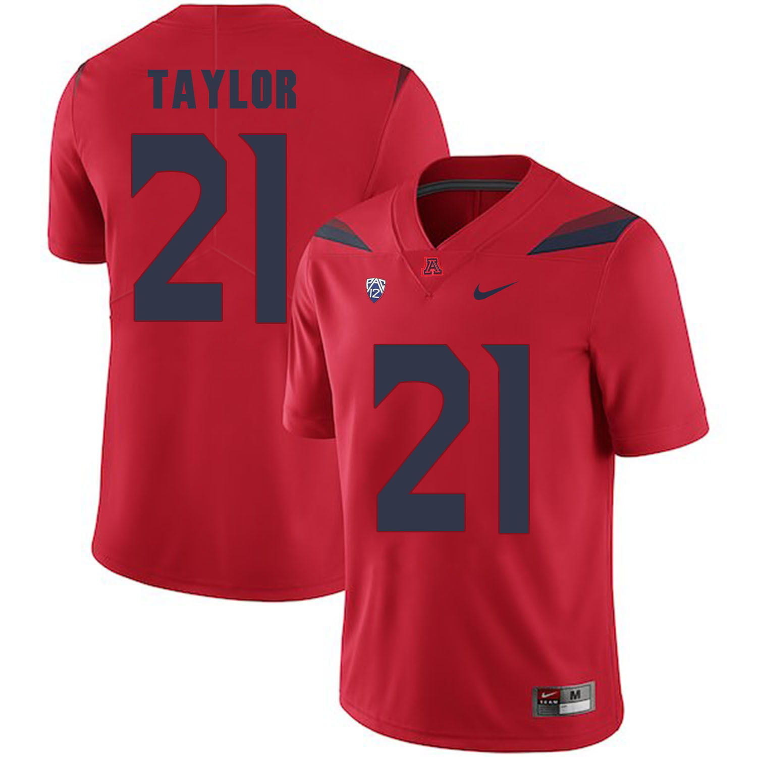 Arizona Wildcats 21 J.J. Taylor Red College Football Jersey