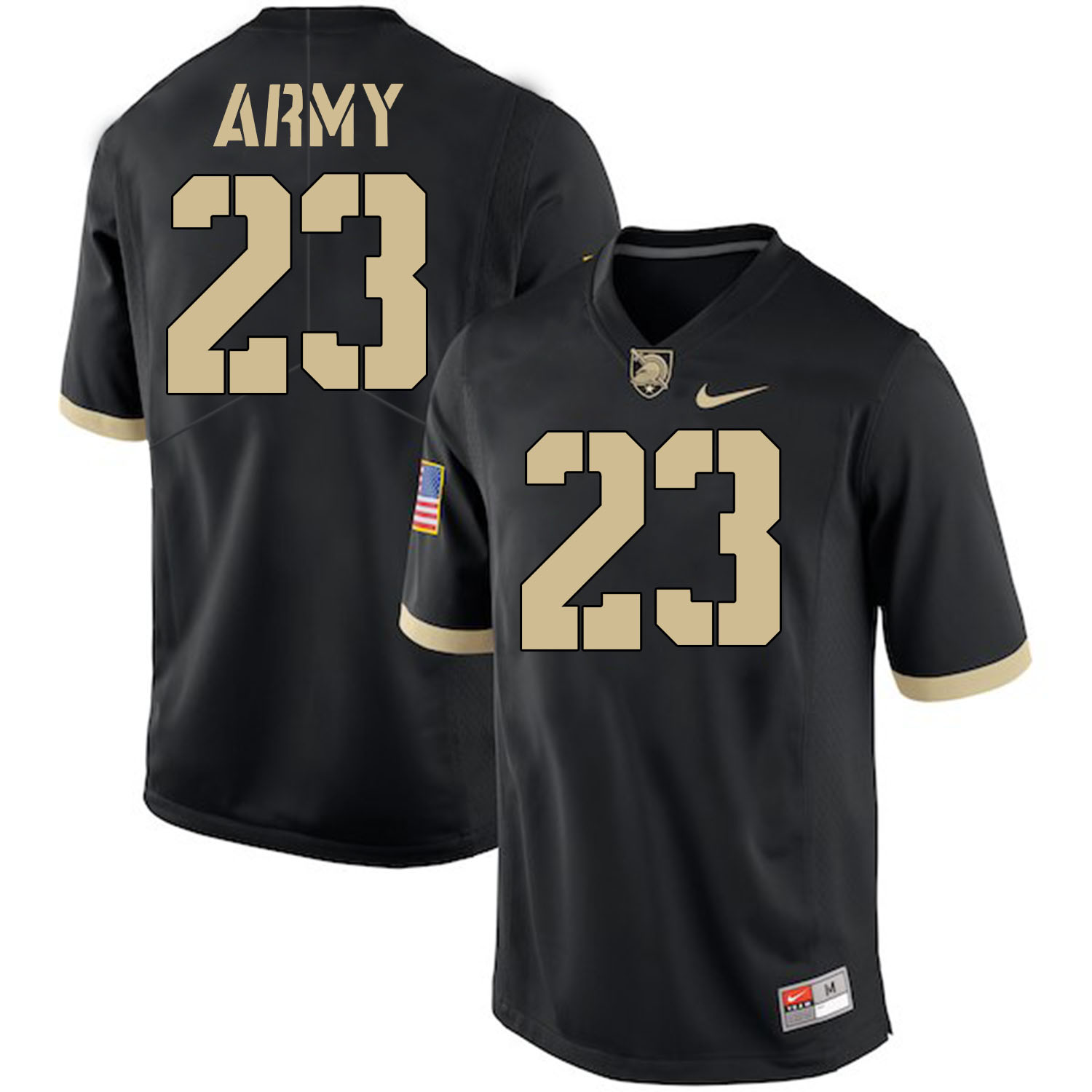 Army Black Knights 23 Elijah Riley Black College Football Jersey