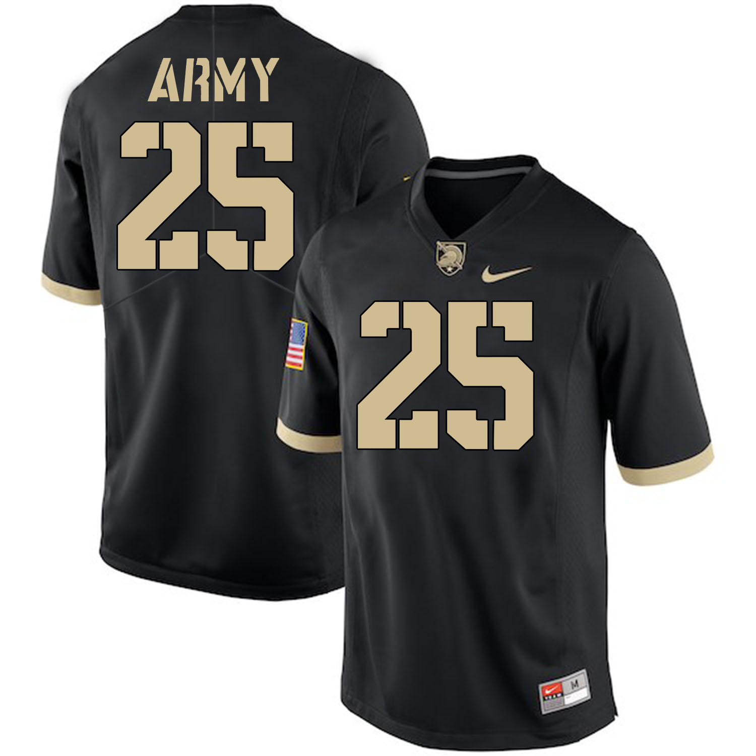 Army Black Knights 25 Connor Slomka Black College Football Jersey