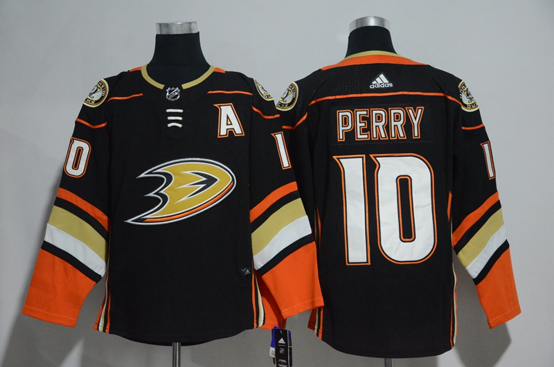 Ducks 10 Corey Perry Black Adidas Jersey