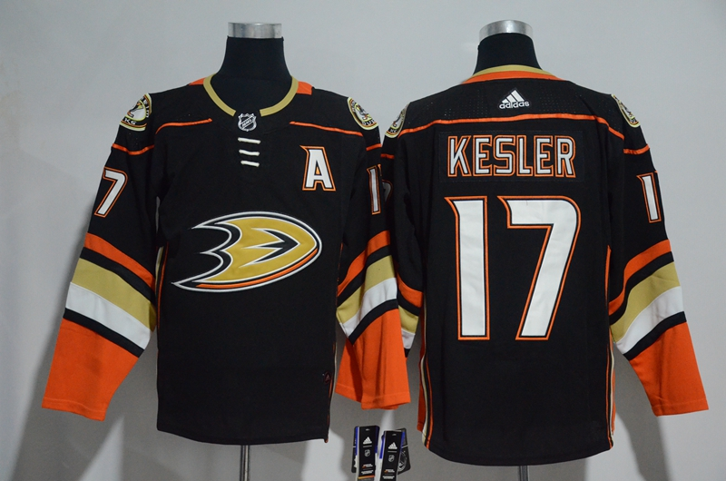 Ducks 17 Ryan Kesler Black Adidas Jersey