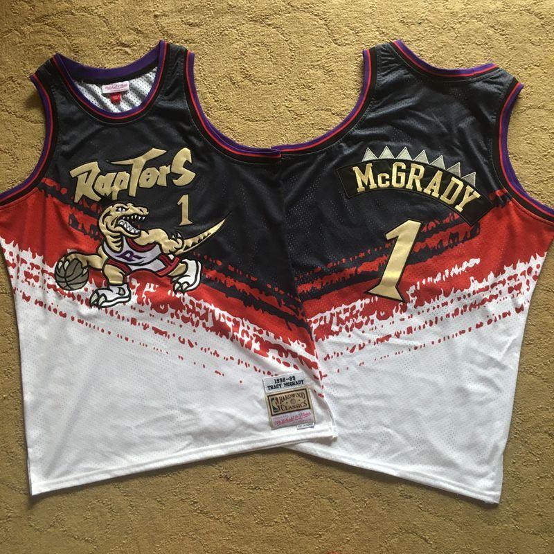 Raptors 1 Tracy McGrady Multi Color 1998-99 Hardwood Classics Independent Swingman Jersey