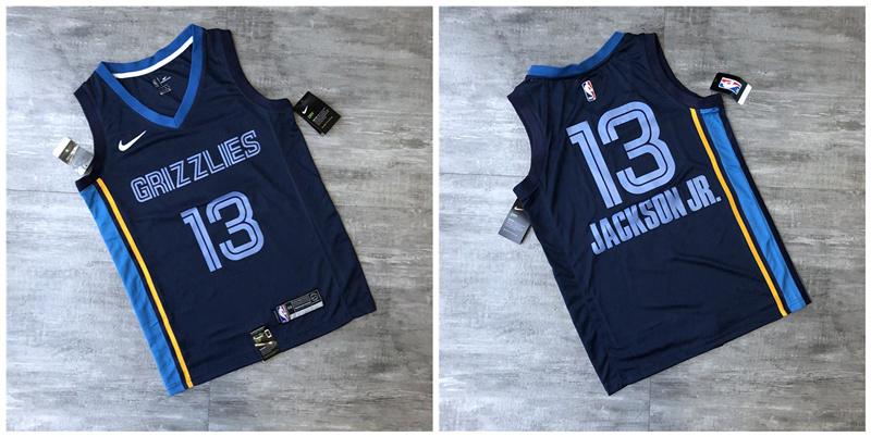 Grizzlies 13 Jaren Jackson Jr. Navy Nike Swingman Printed Jersey