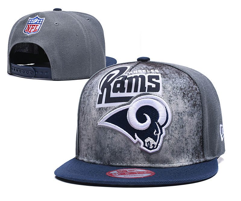 Rams Team Logo Gray Adjustable Hat TX