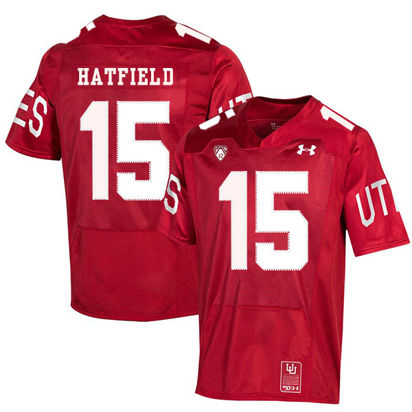 Utah Utes 15 Dominique Hatfield Red 150th Anniversary College Football Jersey
