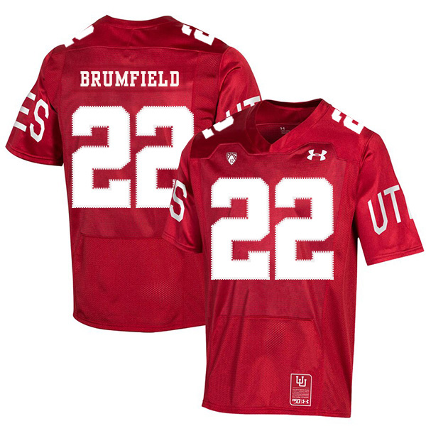 Utah Utes 22 Devin Brumfield Red 150th Anniversary College Football Jersey