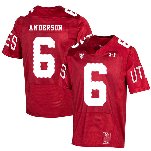 Utah Utes 6 Dres Anderson Red 150th Anniversary College Football Jersey