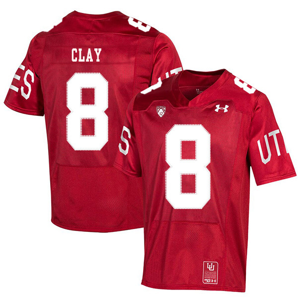 Utah Utes 8 Kaelin Clay Red 150th Anniversary College Football Jersey