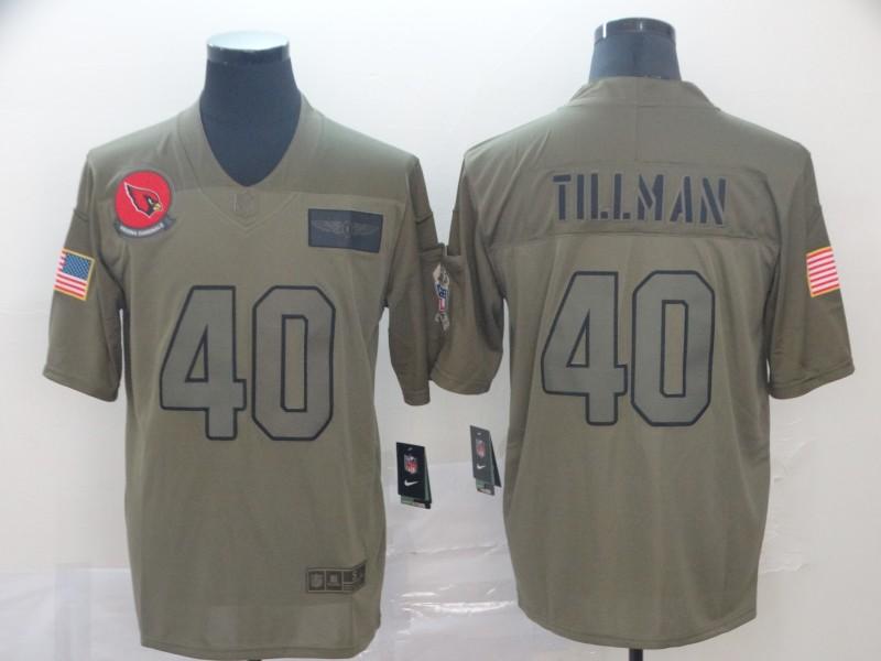 Nike Cardinals 40 Pat Tillman 2019 Olive Salute To Service Limited Jersey