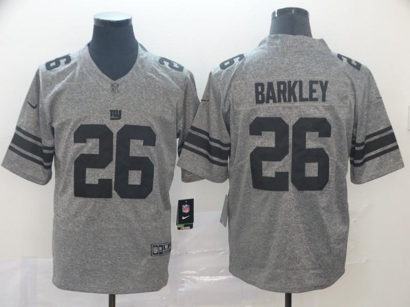 Nike Giants 26 Saquon Barkley Gray Gridiron Gray Vapor Untouchable Limited Jersey