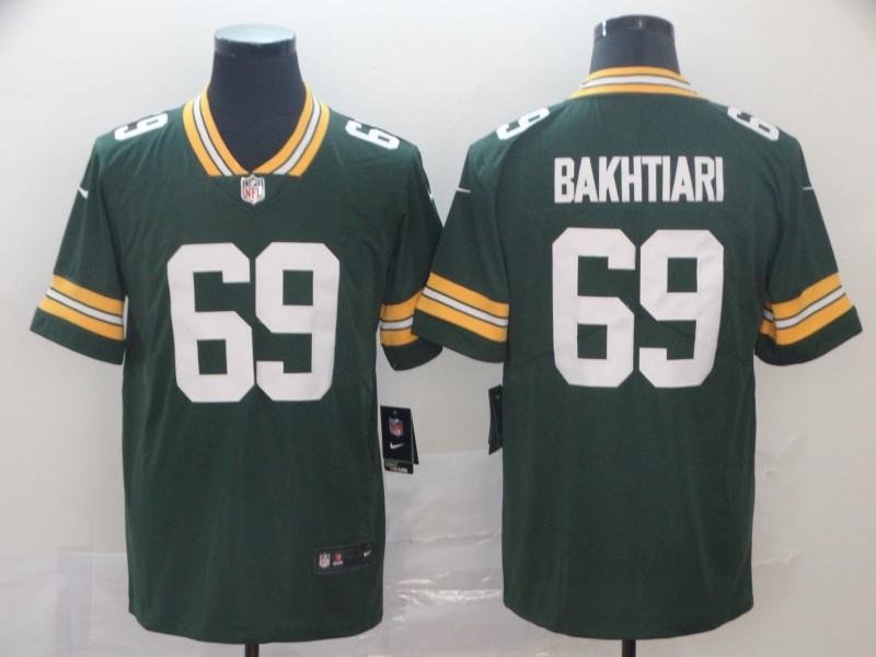 Nike Packers 69 David Bakhtiari Green Vapor Untouchable Limited Jersey