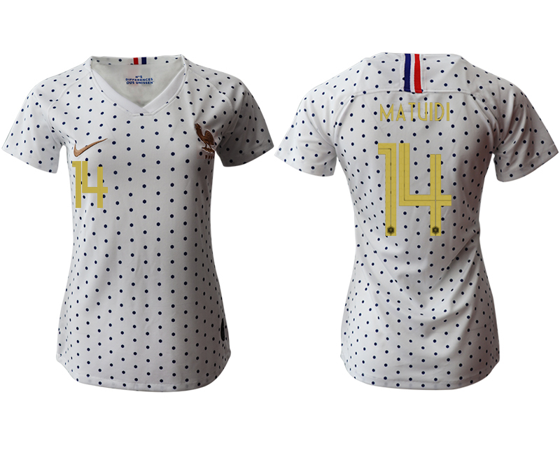 2019-20 France 14 MATUIDI Away Women Soccer Jersey