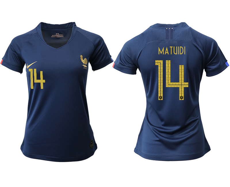 2019-20 France 14 MATUIDI Homen Women Soccer Jersey