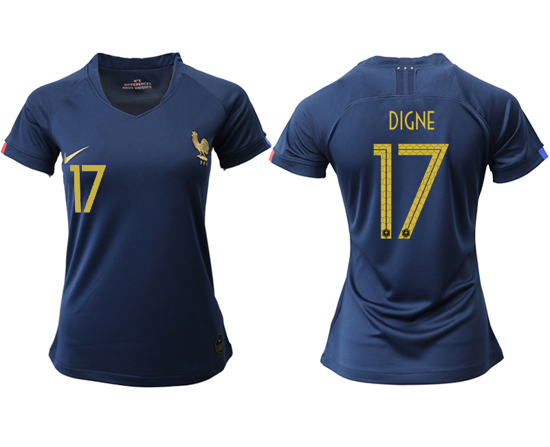 2019-20 France 17 DIGNE Homen Women Soccer Jersey