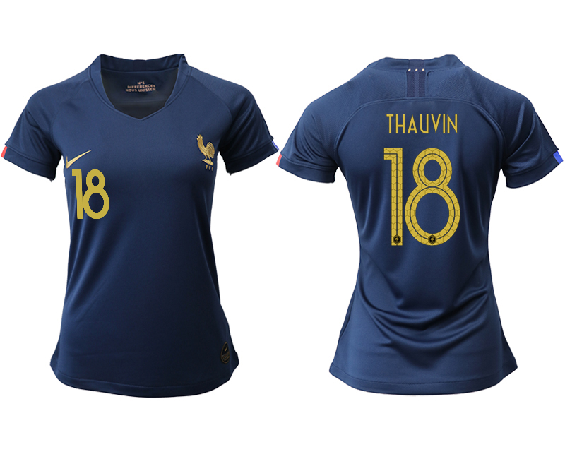 2019-20 France 18 THAUVIN Homen Women Soccer Jersey