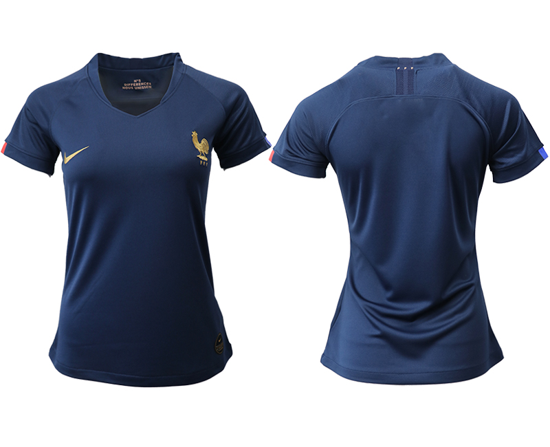 2019-20 France Homen Women Soccer Jersey