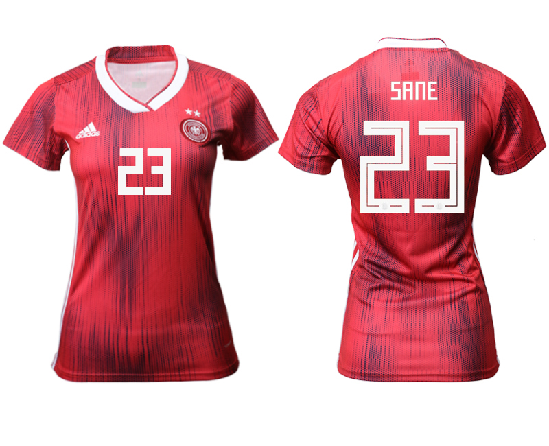 2019-20 Germany 23 SANE Away Women Soccer Jersey