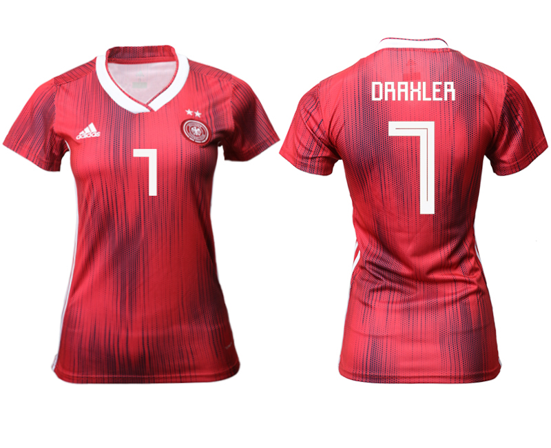 2019-20 Germany 7 DRAKLER Away Women Soccer Jersey