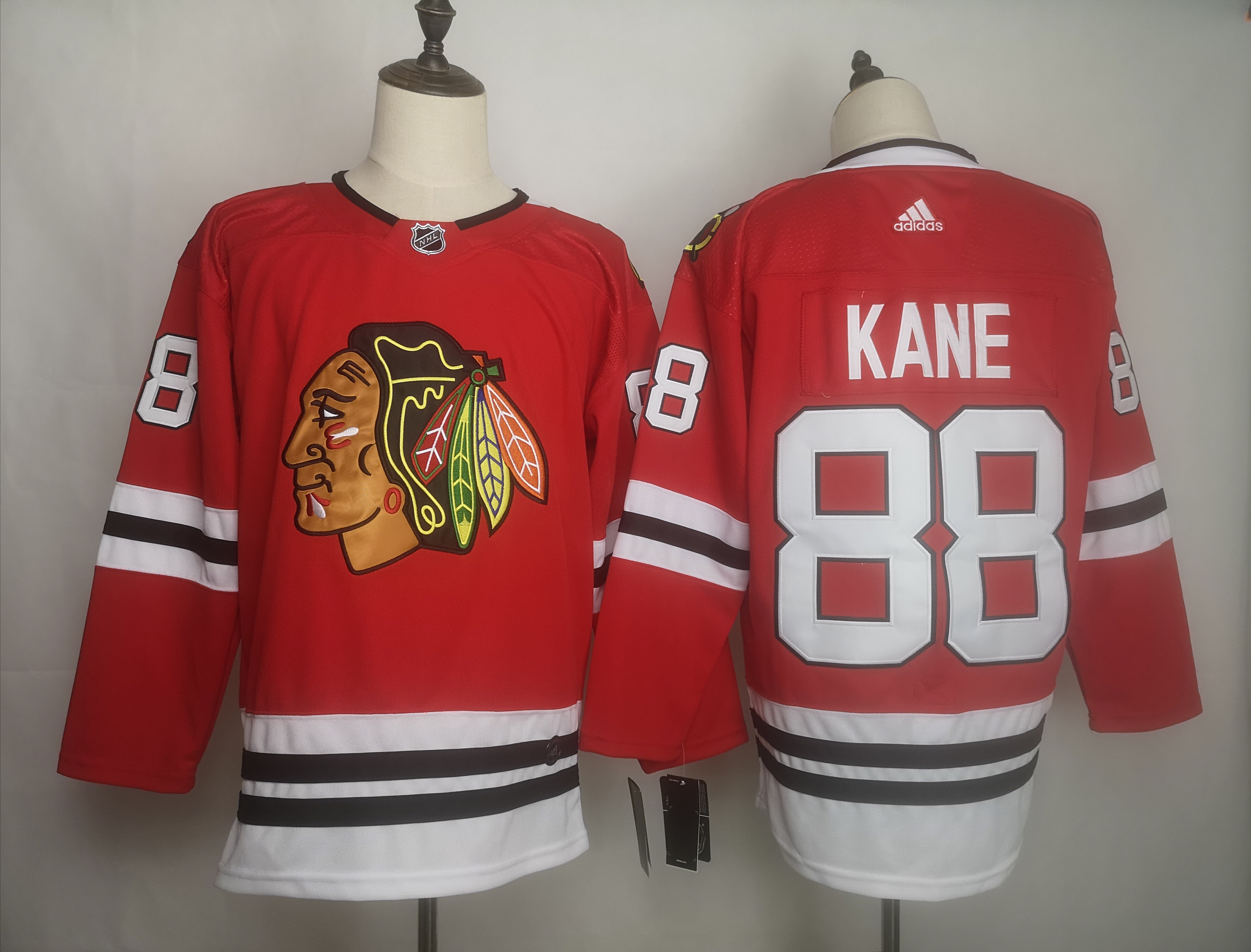 Blackhawks 88 Patrick Kane Red Adidas Jersey