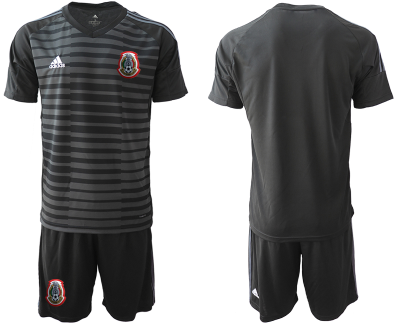 2019-20 Mexico Black Goalkeeper Soccer Jersey
