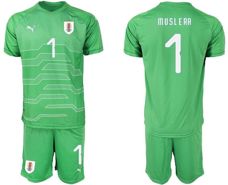 2019-20 Uruguay 1 M U S L E RA Green Goalkeeper Soccer Jersey