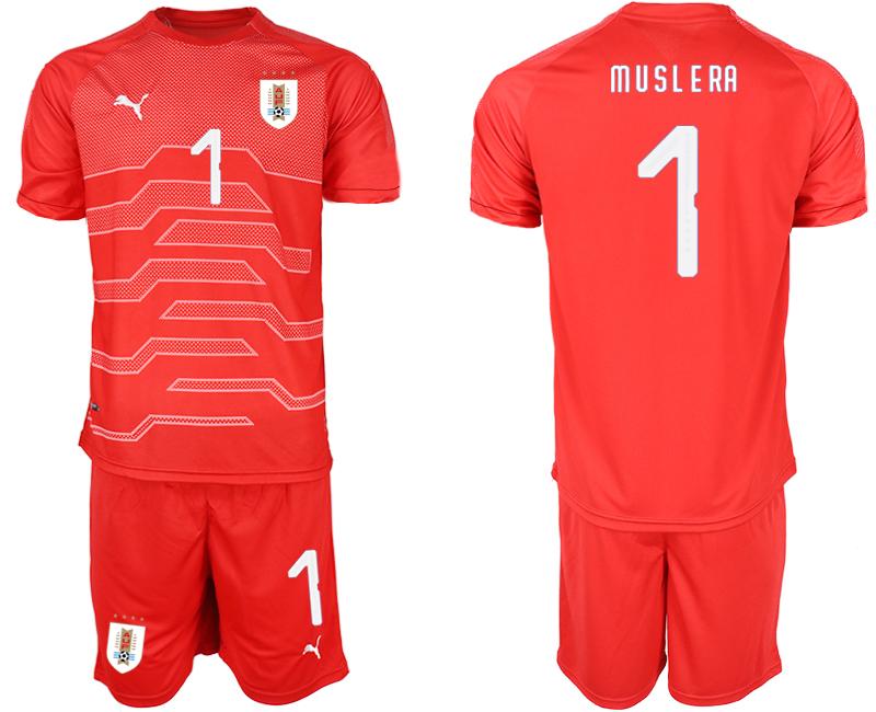 2019-20 Uruguay 1 M U S L E RA Red Goalkeeper Soccer Jersey