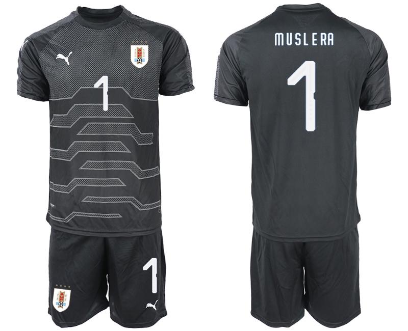 2019-20 Uruguay 1 M U SL E RA Black Goalkeeper Soccer Jersey
