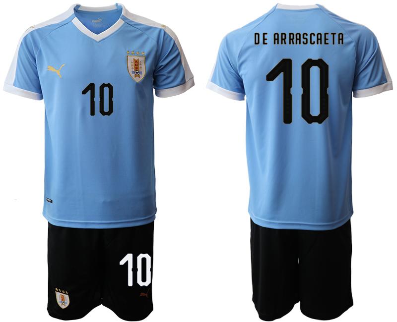 2019-20 Uruguay 10 DE AR RASCAE TA Home Soccer Jersey