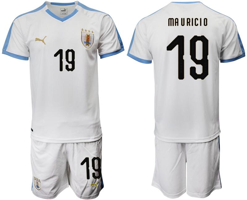 2019-20 Uruguay 19 MA U RICIO Away Soccer Jersey