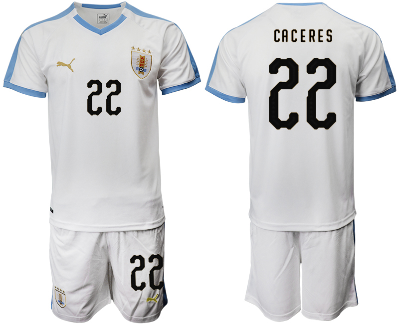 2019-20 Uruguay 22 CACERES Away Soccer Jersey