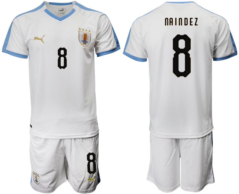 2019-20 Uruguay 8 NA I N D E Z Away Soccer Jersey